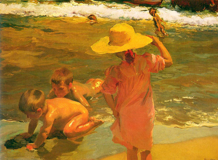 Sorolla_Joaquin 1863-1983 Children on the Sea-shore 1903.jpg (699x516, 187Kb)