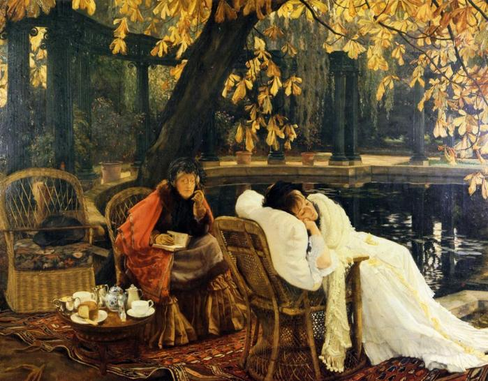 A Convalescent - James Tissot - circa 1876.jpg (699x546, 84Kb)