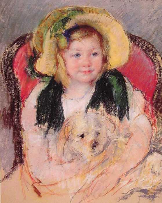 Cassatt_Mary_Sara_with_her_dog_in_an_Armchair_1901.jpg (559x699, 48Kb)