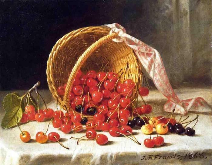 A Basket of Cherries - John F. Francis  1868.jpg (699x543, 69Kb)