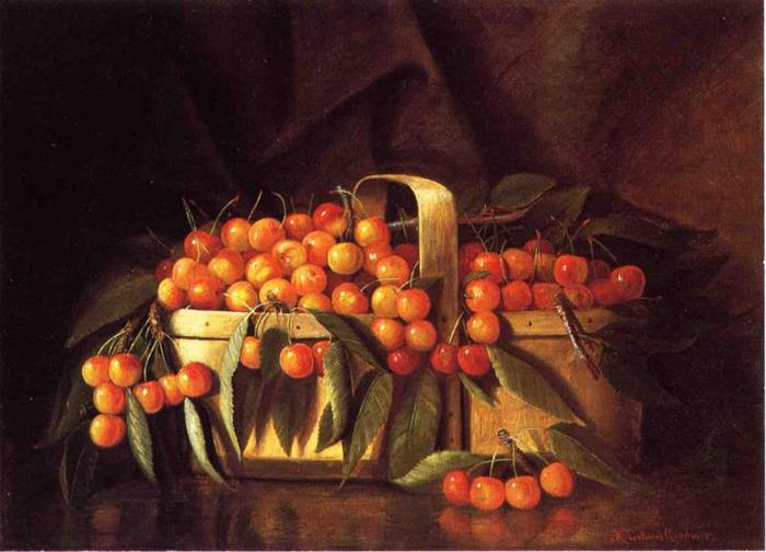 A Basket of Cherries - Richard LaBarre Goodwin.jpg (700x504, 48Kb)