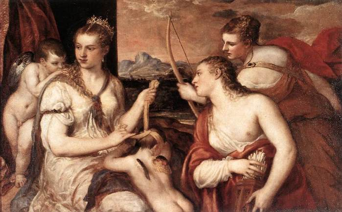 Венера завязывает глаза Купидону.jpg (699x433, 50Kb)