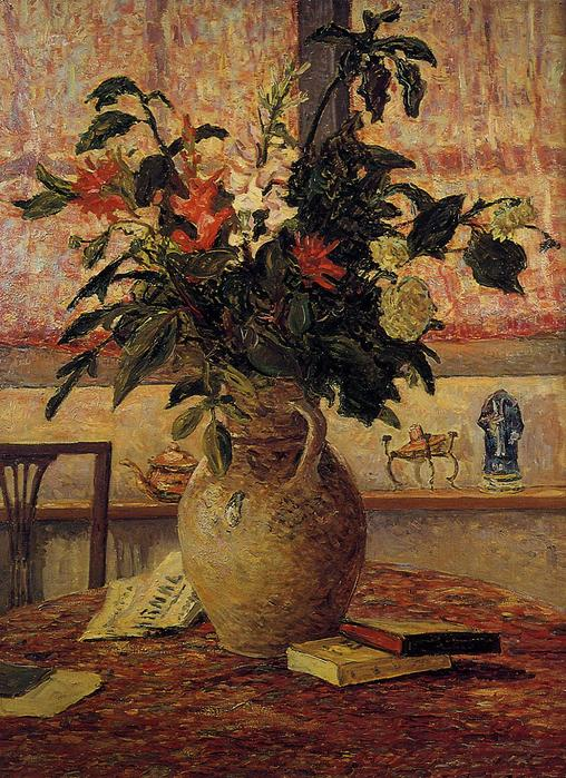 A Bouquet of Flowers in front of a Window - Maxime Maufra - circa 1910.jpg (508x699, 104Kb)