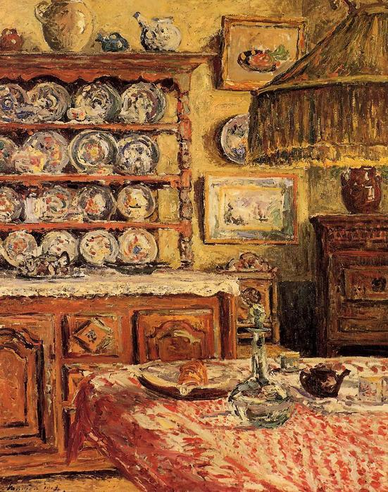 The Dining Room after Lunch - Maxime Maufra 1914.jpg (551x698, 122Kb)