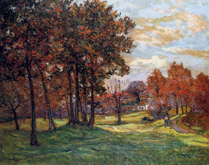 Autumn Landscape at Goulazon, Finistere  1908Maxime Maufra.jpg (700x553, 115Kb)