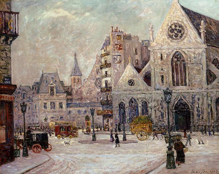 The Church of Saint Nicolas of the Fields, rue Saint Martin - Maxime Maufra  1908.jpg (699x558, 106Kb)