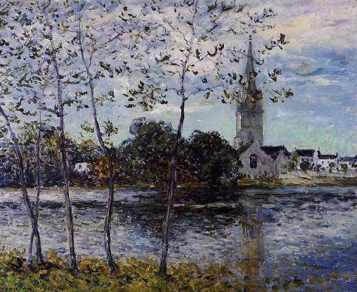 The Banks of the Pond at Rosporden, Finistere - Maxime Maufra  1911.jpg (699x573, 131Kb)