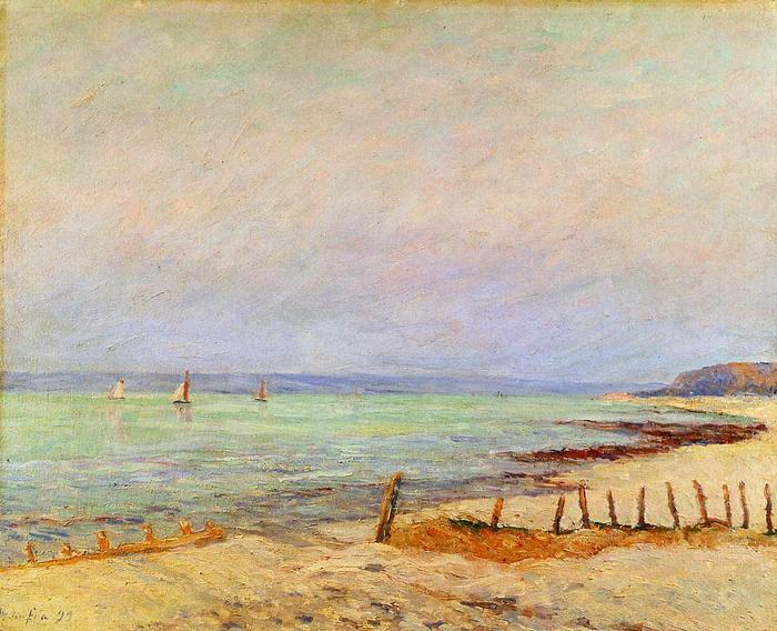 Dusk, the Mouth of the Seine - Maxime Maufra - 1899.jpg (700x568, 72Kb)