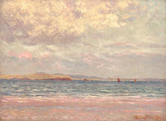 Evening, Morgat Beach - Maxime Maufra - 1902.jpg (700x513, 54Kb)