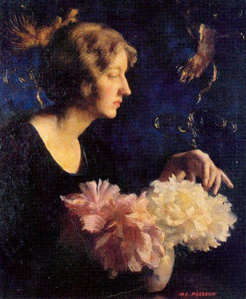 Irene Lady with Peonies Stuber Pearson.jpg (494x600, 100Kb)