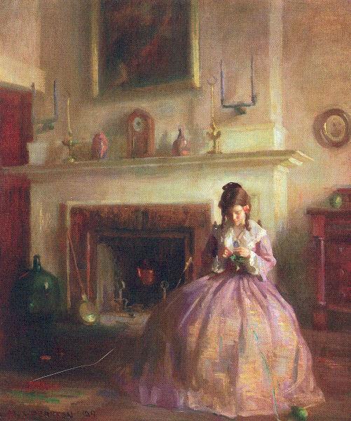 Girl Knitting 1929.jpg (501x600, 86Kb)