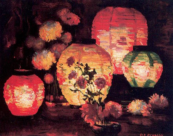 Japanese Lanterns 1898-1978Marguerite Stuber Pearson 1920.jpg (600x472, 100Kb)