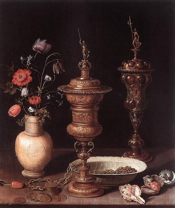 PEETERS_Clara  1594-1657 Still_Life_With_Flowers_And_Goblets 1612.jpg (589x699, 154Kb)