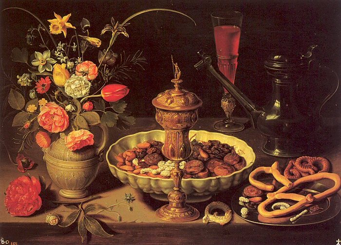 Still Life with Vase, Jug, and Platter of Dried Fruit1619.jpg (700x502, 111Kb)