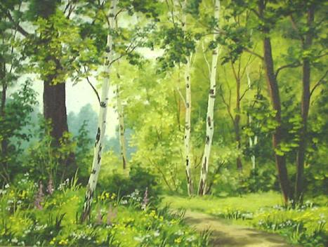 Летние пейзажи живопись