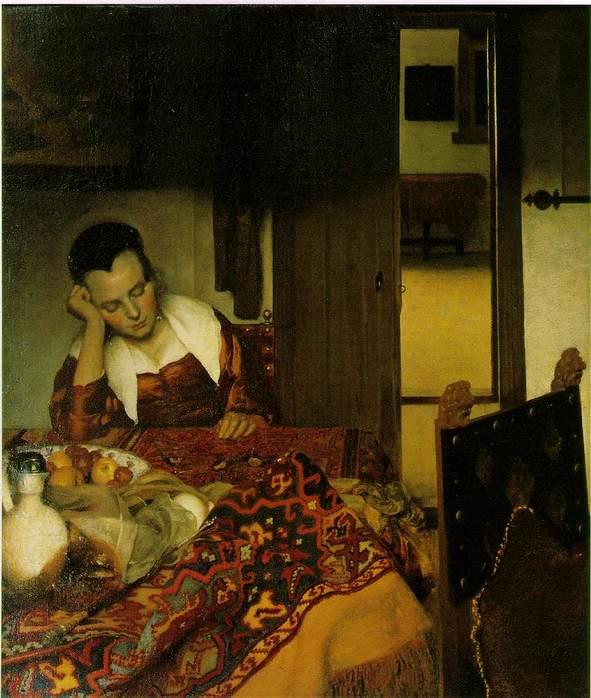 A Woman Asleep at a Table 1657 Вермеер.jpg (591x698, 60Kb)