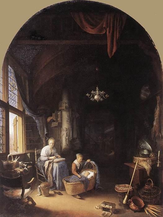 Геррит Доу 1613-1675 Молодая мать 1658.jpg (525x699, 47Kb)