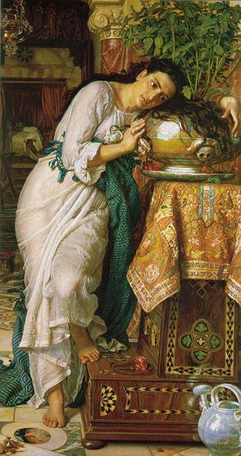 Изабелла у горшка с базиликом Хант Уильям Холман 1868.jpg (338x640, 69Kb)