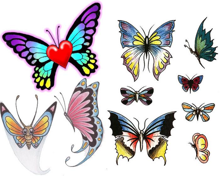 Нарисованные дневник бабочки