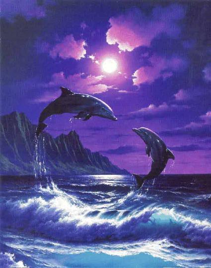 Дельфины резвятся в волнах, Как малые дружные дети.  Им снится в...
