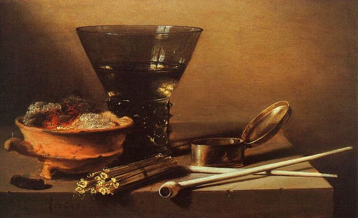 Still_Life_with_Wine_and_Smoking_Implements Pieter Claesz  1597-1661 , 1638.jpg (699x427, 52Kb)