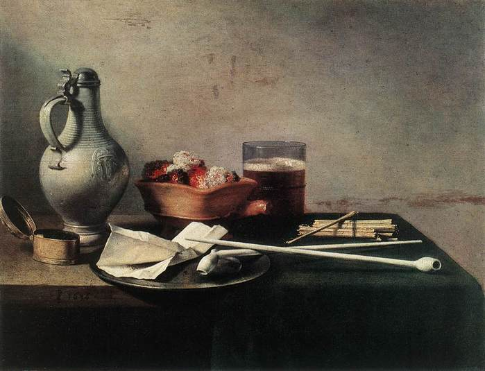 Tobacco_Pipes_and_a_Brazier . Claesz 1636.jpg (699x535, 47Kb)