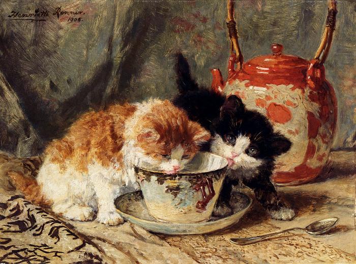 Ronner_Knip_Henriette  1821-1909 Tea_Time 1905.jpg (700x520, 598Kb)