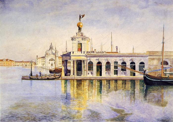 Ladogana, Venice - (Henry Roderick Newman - 1874.jpg (699x495, 68Kb)