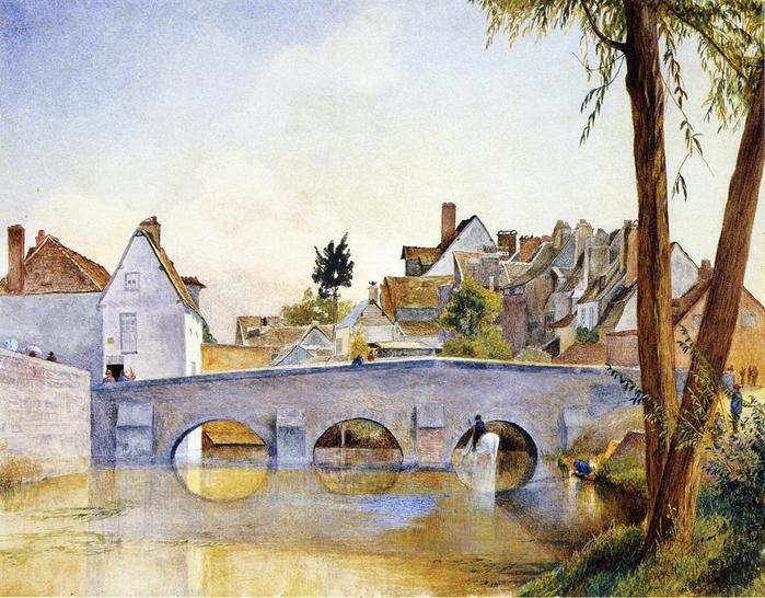 Pont de Minimes, Chartres - (Henry Roderick Newman - 1870.jpg (699x546, 84Kb)