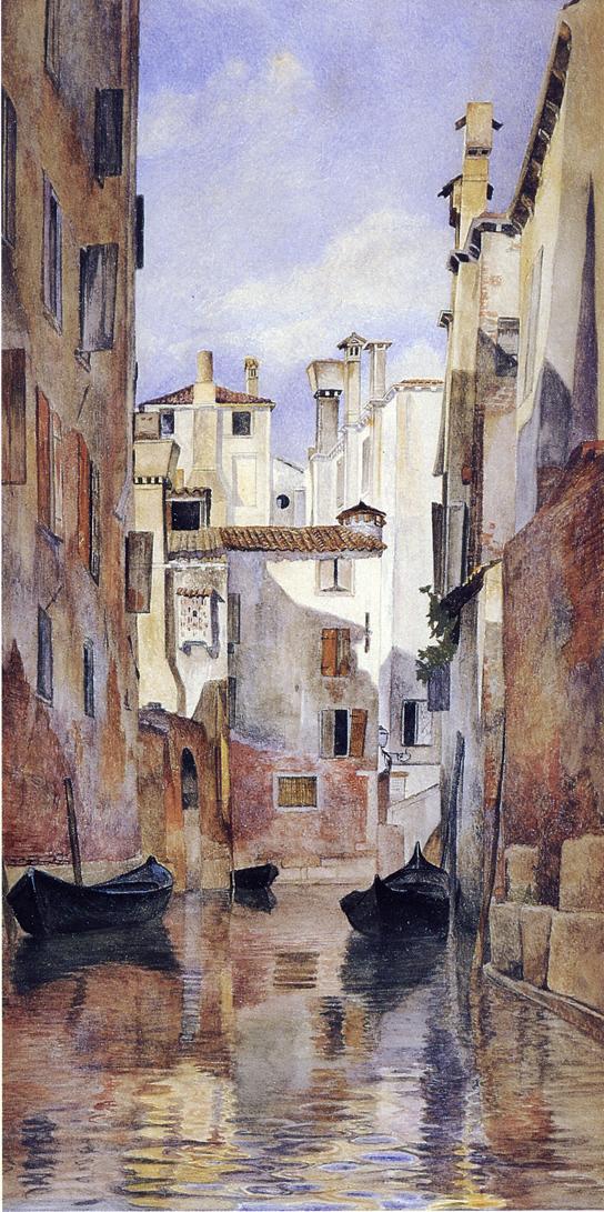 Venetian Canal Scene - (Henry Roderick Newman - 1871.jpg (544x1091, 144Kb)
