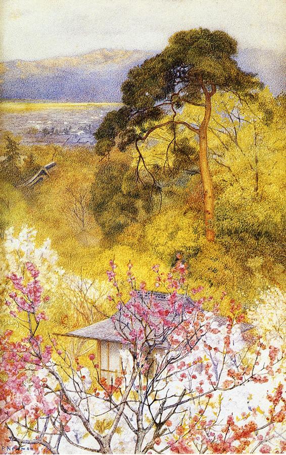Cherry Blossom, Kyoto - (Henry Roderick Newman - 1898.jpg (566x901, 175Kb)