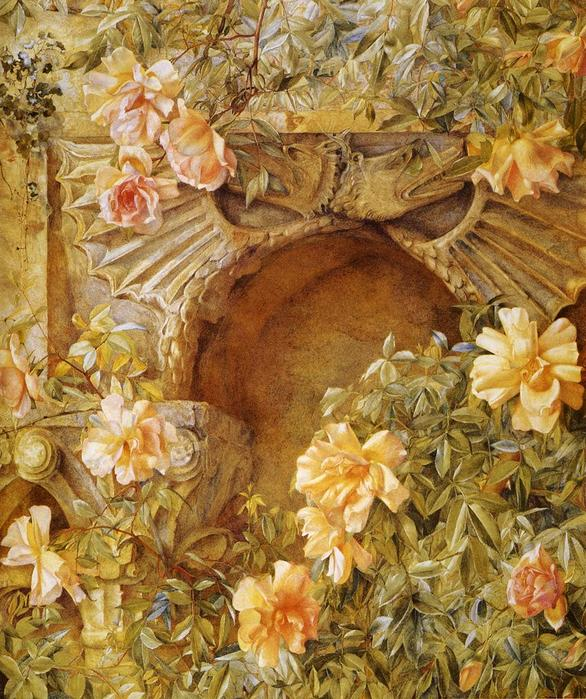 Italian Grotto aka Roses and Dragons - (Henry Roderick Newman - 1886.jpg (586x699, 107Kb)