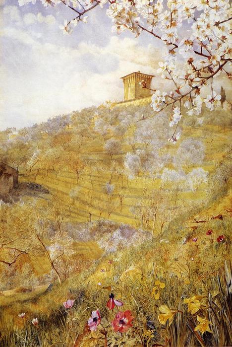 The Villa di Bellosguardo - (Henry Roderick Newman - 1887.jpg (468x699, 82Kb)