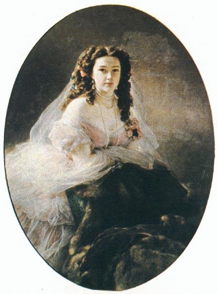 Винтерхальтер Франц Ксавер Портрет В.Д.Римской-Корсаковой 1858.jpg (450x605, 54Kb)