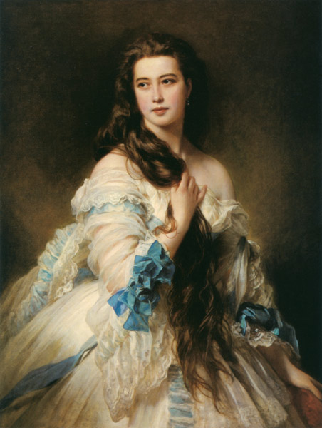 Франц Ксавьер Винтерхальтер.  Портрет  В. Д. Римской-Корсаковой 1864.jpg (452x600, 64Kb)