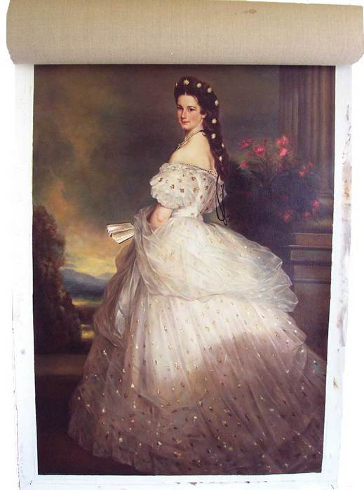 winterhalter Empress Elisabeth of Austria in White Gown with Diamond Stars in her Hair.jpg (519x699, 36Kb)