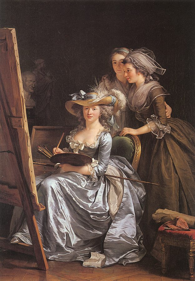 Labille-Guiard, Adelaide  1749-1803  Self-Portrait with Two Pupils 1785.jpg (625x900, 147Kb)