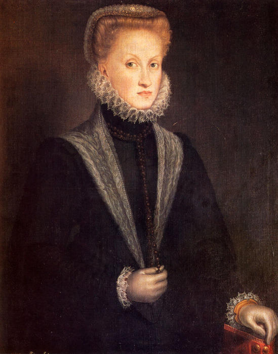 1532-1625 Anguisciola_Sofonisba. Anne_Of_Austria_Queen_Of_Spain 1573.jpg (549x698, 145Kb)