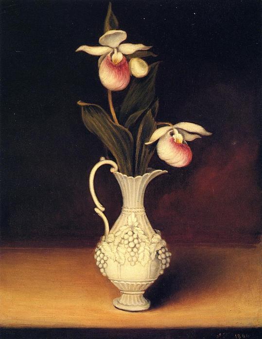 Anna Claypoole Peale 1791-1878 Орхидеи в паросской вазе1866.jpg (539x698, 47Kb