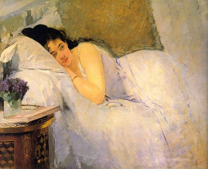 eva gonzales Morning Awakening, 1876.jpg (700x569, 85Kb)