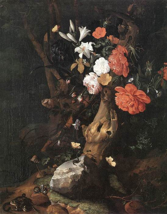 Flowers on a Tree Trunk RUYSCH  Rachel 1664-1750.jpg (548x699, 65Kb)