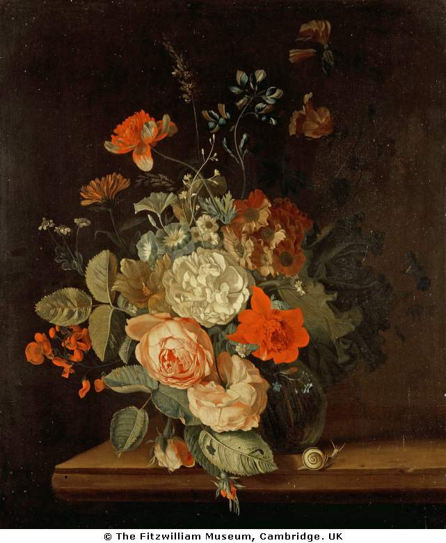 Oosterwyck, Maria van  Dutch  1630-1693A vase of flowers.jpg (641x780, 80Kb)