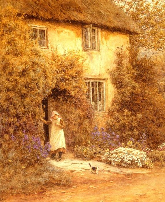 A Cottage Door - (Helen Allingham.jpg (572x700, 105Kb)