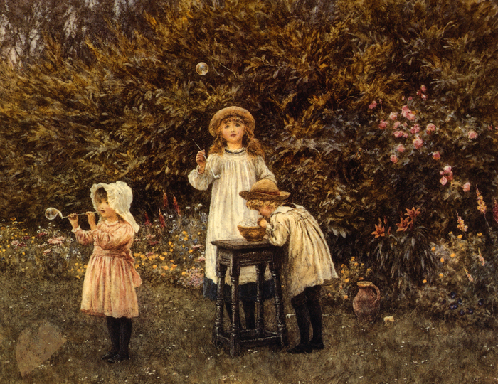 Bubbles - (Helen Allingham.jpg (700x540, 589Kb)