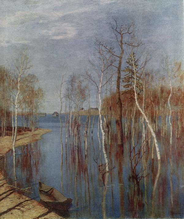 исаак левитан Большая вода 1897.jpg (600x712, 70Kb)
