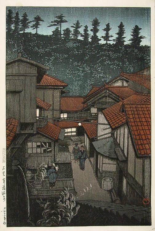 Hasui Kawase - Yufuku жаркая весна в направлении Iwami.jpg (504x750, 127Kb)