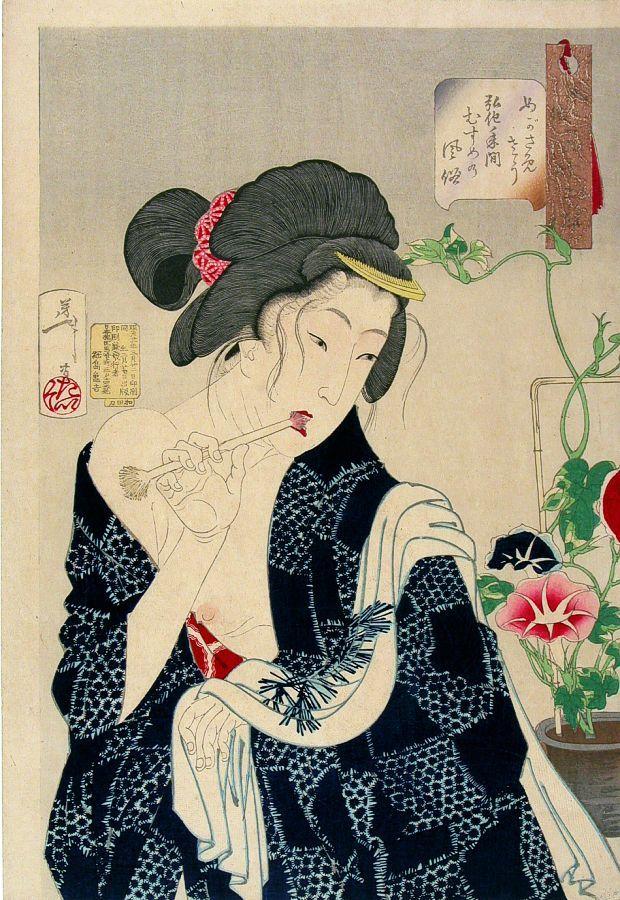 Yoshitoshi Tsukioka - 32 аспекта привычек и манер.jpg (620x900, 153Kb)