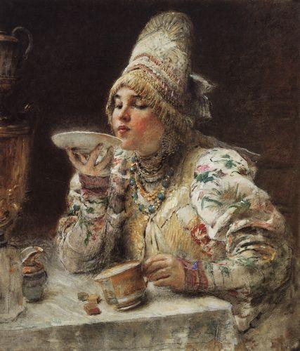 маковский за чаем 1914.jpg (427x500, 42Kb)