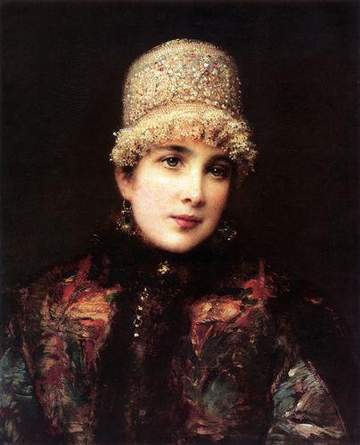маковский Русская красавица в кокошнике. 1890-е.jpg (404x500, 29Kb)