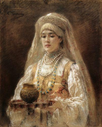 боярышня с чаркой меда, 1910.jpg (402x500, 38Kb)